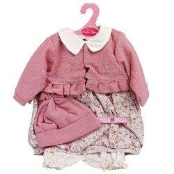 Ropa para muñecos Antonio Juan 55 cm - Conjunto estampado con chaqueta rosa y gorro