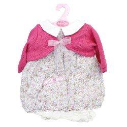 Ropa para muñecos Antonio Juan 55 cm - Conjunto estampado de flores con  chaqueta frambuesa 92b37e6b3ee