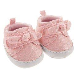 Complementos para muñecas Antonio Juan 40-52 cm - Zapatillas rosa con lazo
