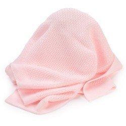 Complementos muñecas Así - Toquilla lana rosa