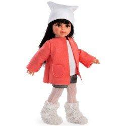 Muñeca Así 40 cm - Sabrina con short y chaqueta naranja