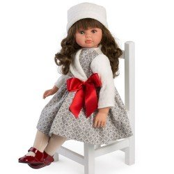 Muñeca Así 57 cm - Pepa con vestido de formas geométricas y lazo rojo