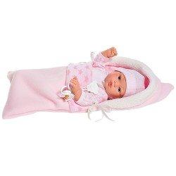 Muñeca Así 36 cm - Koke con pelele punto con nana estrellas rosa