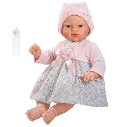 Muñeca Así 36 cm - Koke con vestido de flores y chaqueta rosa