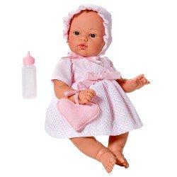 Muñeca Así 36 cm - Koke con vestido rosa con rombos mini