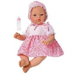 Muñeca Así 36 cm - Koke con vestido de flores rosas