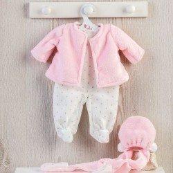 Ropa para Muñecas Así 43 cm - Pelele de estrellas con chaquetón rosa para muñeca María