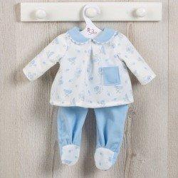 Ropa para Muñecas Así 43 cm - Pijama de ositos con luna celeste para muñeco Pablo