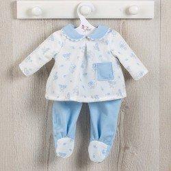 Ropa para Muñecas Así 36 cm - Pijama de ositos con luna celeste para muñeco Koke