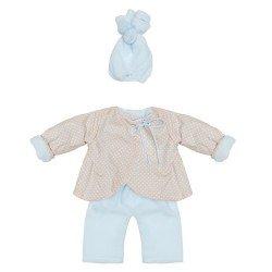 Ropa para Muñecas Así 43 cm - Conjunto chaquetón reversible celeste-beige para muñeco Pablo