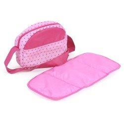 Bolso para cochecito de muñecas - Bayer Chic 2000 - Puntos rosa