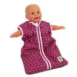 Saco de dormir para muñecas, Bayer Chic 2000 - Lunares frambuesa-rosa