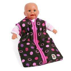 Saco de dormir para muñecas de hasta 55 cm - Bayer Chic 2000 - Bolitas Rosa