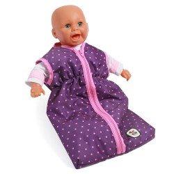 Saco de dormir para muñecas de hasta 55 cm - Bayer Chic 2000 - Puntos morado