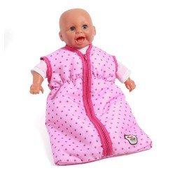 Saco de dormir para muñecas de hasta 55 cm - Bayer Chic 2000 - Puntos Rosa