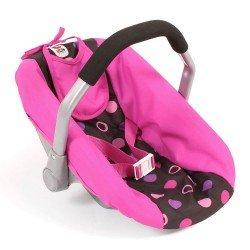 Silla de Auto para muñecas de 46 cm - Bayer Chic 2000 - Bolitas Rosa