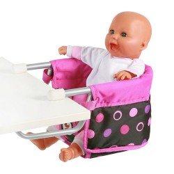 Sillita elevada para muñecas de hasta 60 cm - Bayer Chic 2000 - Bolitas Rosa
