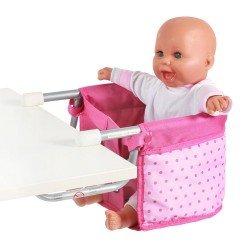 Sillita elevada para muñecas de hasta 60 cm - Bayer Chic 2000 - Puntos Rosa