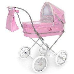 Burbuja cubrelluvias rosa para cochecito de muñecas redondo Bebelux