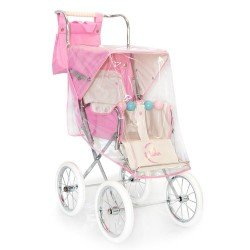 Burbuja cubrelluvias rosa para sillita de muñecas Big Bebelux