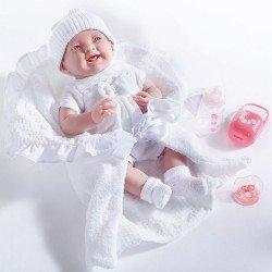 Berenguer Boutique - Muñeca La newborn 18786 vestida de blanco con arrullo y accesorios