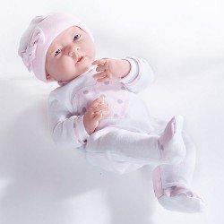 Muñeca Berenguer Boutique 38 cm - La newborn 18055 (chica) con pijama con corazón rosa