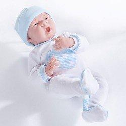 Muñeco Berenguer Boutique 38 cm - La newborn 18056 (chico) con pijama con corazón azul