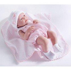Muñeca Berenguer Boutique 43 cm - La newborn 18109 (chica) con traje rosa con mantita