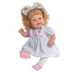 Muñeca Baby Sweet de Berjuán - Rubia con vestido gris