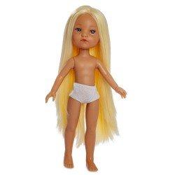 Muñeca Berjuán 35 cm - Boutique dolls - Fashion Girl rubia con pelo extra largo sin ropa
