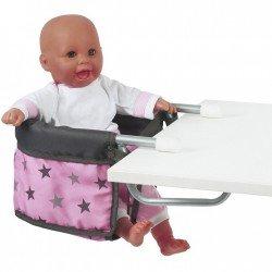 Sillita elevada para muñecas de hasta 60 cm - Bayer Chic 2000 - Estrellas grises