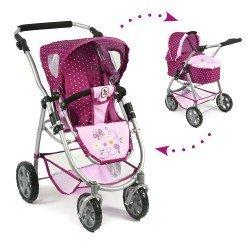 Combi silla y capazo Chic Emotion 2 en 1 Lunares frambuesa-rosa 77 cm