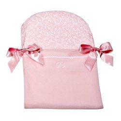 Complementos muñecas Así - Nana en color rosa cachemir rosa y blanco