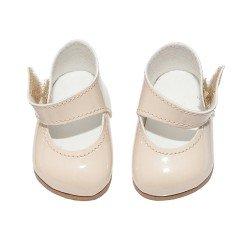 Complementos muñecas Así 36 a 40 cm - Zapatos merceditas beige para muñecos Guille, Koke y Nelly