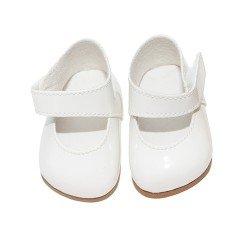 Complementos muñecas Así 36 a 40 cm - Zapatos merceditas blancas para muñecos Guille, Koke y Nelly