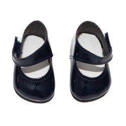 Complementos muñecas Así 36 a 40 cm - Zapatos merceditas marino para muñecos Guille, Koke y Nelly