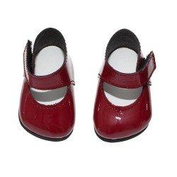 Complementos muñecas Así 36 a 40 cm - Zapatos merceditas rojas granate para muñecos Guille, Koke y Nelly