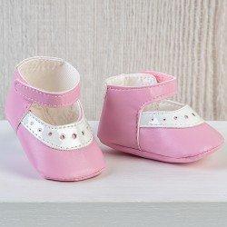Complementos muñecas Así 43 a 46 cm - Zapatos merceditas mixta rosa para muñecos María, Pablo, Leo y Serie Limitada