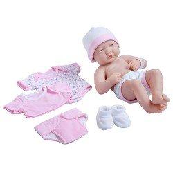 Muñeca Designed by Berenguer 36 cm - La newborn - Tiernos cuidados con boca abierta y set de ropa