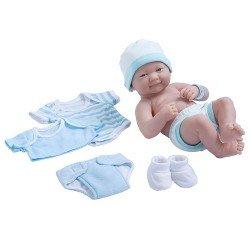 Muñeco Designed by Berenguer 36 cm - La newborn - Tiernos cuidados con boca cerrada y set de ropa