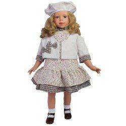 Muñeca D'Nenes 80 cm - Altea con vestido estampado y vichy