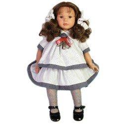 Muñeca D'Nenes 60 cm - Danaela con vestido gris