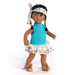 Muñeca D'Nenes 34 cm - Marieta asiática con lazo de flores