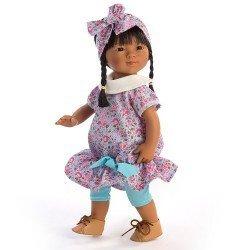 Muñeca D'Nenes 34 cm - Marieta asiática con vestido de flores