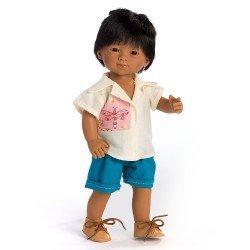 Muñeco D'Nenes 34 cm - Mario con camisa y pantalón azul