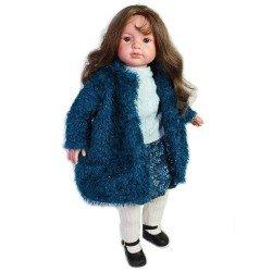 Muñeca D'Nenes 52 cm - Paula con abrigo azul
