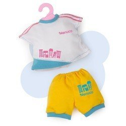 Ropa para muñecos Nenuco 35 cm - Conjunto camiseta blanca y pantalón amarillo
