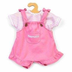 Ropa para muñeco Nenuco 35 cm - Peto rosa con camiseta de rayas