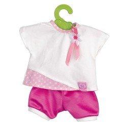 Ropa para muñecos Nenuco - Camiseta blanca con pantalón fucsia 35 cm