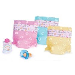 Complementos para muñecos Nenuco 42 cm - Pañales de Colores